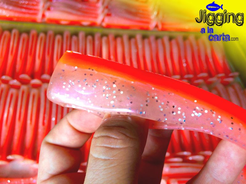 Jigging a la Carta: cuerpo de señuelo de vinilo color rosa nacar